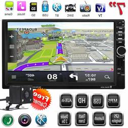 7 Double 2DIN HD Camera Car MP5 MP3 Player Bluetooth Touch S
