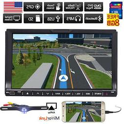 """7"""" Touch Double 2DIN Car DVD CD Radio Stereo Player GPS Navi"""