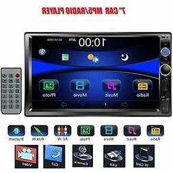 7&quot Double DIN Touchscreen In Dash Bluetooth Car Stereo M