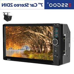 "7"" Car Stereo Radio MP5 Player 2 Din Auto USB AUX FM Bluetoo"
