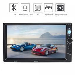 "7"" Double 2 DIN 7018B Car GPS FM Stereo Radio MP5 Player Tou"