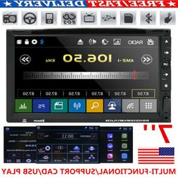 "7"" Double 2 Din Car DVD Player Radio Stereo MP3 AUX USB BT S"