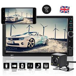 "7"" Double 2 DIN Car MP5 MP3 Player Bluetooth Touch Screen St"
