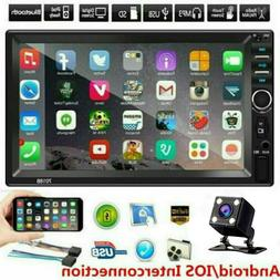 """7"""" Double 2 DIN Car MP5 Player Bluetooth Touch Screen Stereo"""