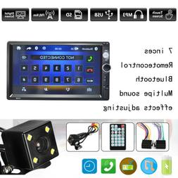7'' Double 2 Din Car Stereo Bluetooth MP5 Radio Player Head