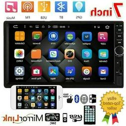 """7"""" Double 2 DIN Car Stereo Radio MP5 Bluetooth Touch Screen"""