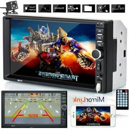 """7"""" Double 2 DIN Touch Screen Car Radio Bluetooth Stereo HD M"""