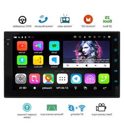7'' Double 2Din Android 6.0 Car Stereo GPS Wifi 4G Mirror Li