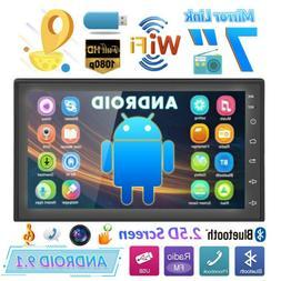 "7"" Double 2DIN Car Radio Android 9.1 WIFi GPS Navi Bluetooth"