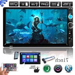 """7"""" Double 2Din Touch Screen Car MP5 MP3 Player Bluetooth Ste"""