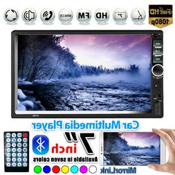 """7"""" Double 7018B 2 DIN Car FM Stereo Radio MP5 Player Touch S"""
