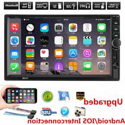 "7"" Double 7018B 2 DIN Car GPS FM Stereo Radio MP5 Player Tou"
