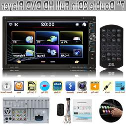 "7"" Double Din Car DVD CD Player Bluetooth+Radio Stereo+Steer"