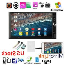 """7""""Double DIN Car Stereo Radio MP5 Player Touch Screen BT Hea"""