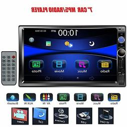"Regetek 7"" Double DIN Touchscreen in Dash Bluetooth Car Ster"