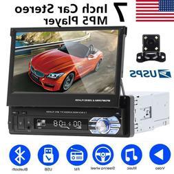 7 Inch 1Din Car Stereo Radio Retractable Touchscreen MP5 Pla