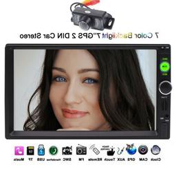 7 Inch 2 Din GPS Navigation Car Radio MP5 Player Touch Scree