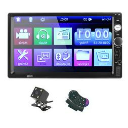 7 Inch 2DIN HD Car Camera MP5 Player Steering Wheel Remote C