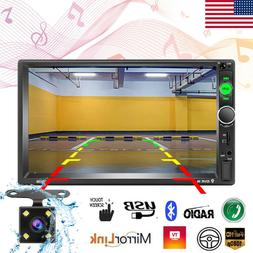 """7"""" Inch Car Stereo Radio Mp5 Player Touch Screen Bluetooth R"""