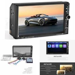7 inch Car Video 7060B 2din Car Radio MP5 DVD Player Microph