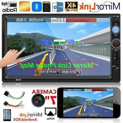 """7"""" inch Double 2 DIN Car MP5 Player Bluetooth Touch Screen S"""