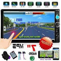 """7"""" inch Car Stereo Radio Double 2DIN MP5 Player Touch Screen"""