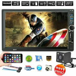 "7"" Inch DOUBLE 2DIN Car MP5 Player BluetoothTouch Screen Ste"