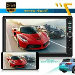 7inch Double 2Din Touch Screen Car Stereo MP5 Player Bluetoo