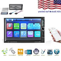 7 inch Double Din Touch Screen Car Stereo MP5/MP3 Player FM