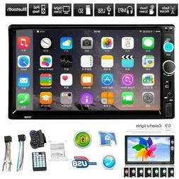 """7"""" MP5 FM Player Bluetooth Car Stereo Radio Double 2 DIN HD"""