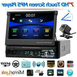"""7"""" Single 1 DIN Flip out Touch Screen Car MP5 Stereo Radio B"""