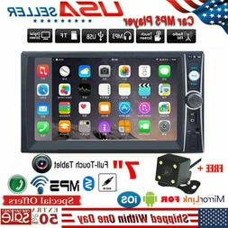 "Car Video MP5 Player 2 Din 7"" Touchscreen FM Bluetooth Radio"