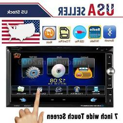 """7"""" touch screen Car Stereo Double 2Din Radio DVD Player iPod"""