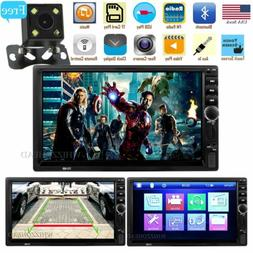 7in Car Stereo Radio Bluetooth Audio Receiver Double Din USB