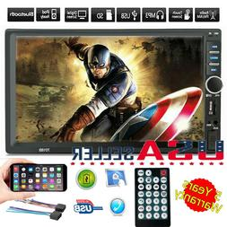 7in Double 2 Din Car Stereo Radio FM/MP5 Player Bluetooth HD