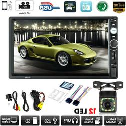 7inch Double 2Din HD Touch Screen Bluetooth Car Stereo Radio