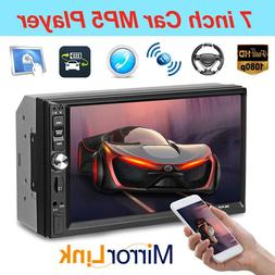 7Inch Double 2Din Screen HD Car Stereo MP5 Player Bluetooth