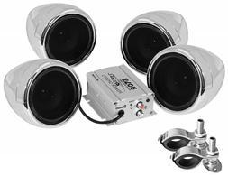 BOSS AUDIO MC470B Chrome 1000 watt Motorcycle/ATV Sound Syst