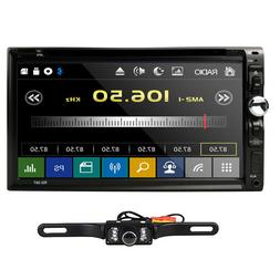 "HD Sony Lens Double 2Din 7""Car Stereo Radio DVD Player iPod"