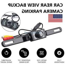 License Plate Waterproof 7LEDs Night Vision Car Rear View Ba