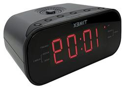 Timex T231GY AM/FM Dual Alarm Clock Radio with 1.2-Inch Red