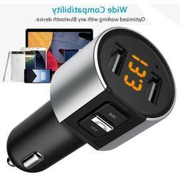 Wireless Bluetooth FM Transmitter MP3 Radio Adapter Car Kit