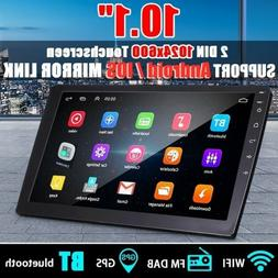 """Android 10.1"""" Touchscreen 2DIN Car Stereo Radio MP5 Player B"""