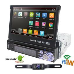 "Android 6.0 1DIN 4Core Unit Flip Out 7"" inch Car DVD Player"