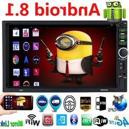 Android 8.1 Car Stereo GPS Navigation Radio Player Double Di