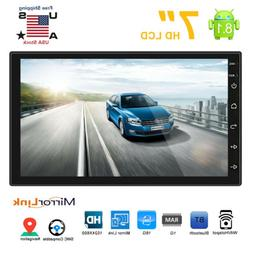 Android 8.1 Double 2 Din HD Quad Core GPS WiFi Car Stereo MP