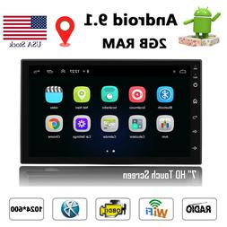 Android 8.1 Car Stereo GPS 7'' HD Screen WIFI MP5 FM Radio P