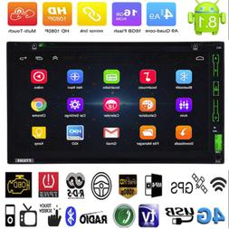 "Android8.1 WiFi 2Din 7"" HD Quad Core GPS Navi Car Stereo MP5"