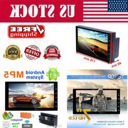 Android8.1 WiFi 2Din 7in HD Quad Core GPS Navi Car Stereo MP