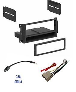 ASC Audio Car Stereo Radio Install Dash Kit, Wire Harness, a